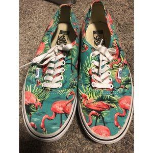Vans flamingo print Authentic shoes